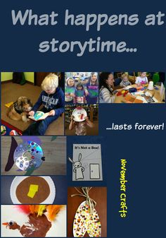 Every Saturday, Crafty Storytime at 10:30 am. Listen to storytime, make a craft, and maybe read to a visiting hospice dog.