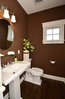 Rich Choc Walls Sherwin Williams Sw 7520 Plantation Brown For My Fireplace Wall Living Room Decor Pinterest Bathroom Powder And