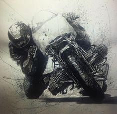 New Vintage Cafe Racer Poster Ideas Motorcycle Posters, Motorcycle Art, Motorcycle Tattoos, Art Moto, Bike Bmw, Bike Sketch, Ouvrages D'art, Classic Bikes, Bmw Classic