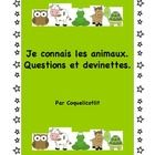 Kids love animals, let's see what they know !  You will find 36 cards with questions about all kinds of animals, 24 cards with riddles about animal...