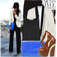 A fashion look from July 2011 featuring Theyskens' Theory tops, STELLA McCARTNEY blazers and Calvin Klein Collection pants. Browse and shop related looks.