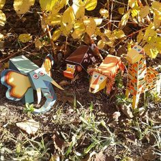 Meet our Jungle Animals Paper Toys.