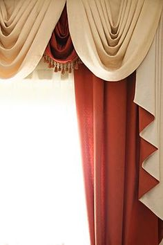 58 best curtains images in 2013 curtain ideas curtains - Swag valances for bathroom windows ...