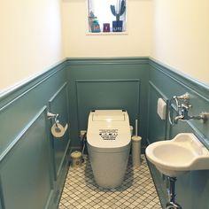トイレ/腰壁/swaro109vintage/IKEA/ダルトン/名古屋モザイク…などのインテリア実例 - 2015-12-30 11:27:29 | RoomClip(ルームクリップ)
