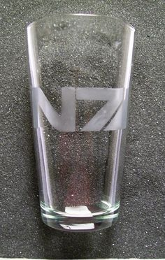 Mass Effect N7 etched tumbler