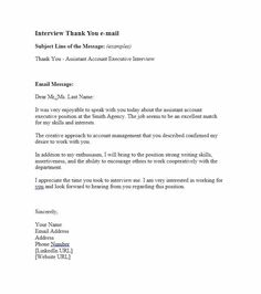 writing post interview thank you letters 40 Thank You Email After Interview Templates - Template Lab