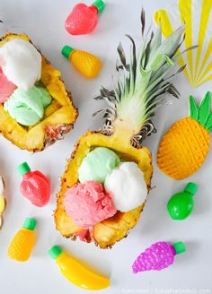 pineapple bowls | kara party ideas