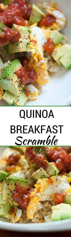 Quinoa Breakfast Scr Quinoa Breakfast Scramble - This super easy breakf… https://www.pinterest.com/pin/178666310200935937/