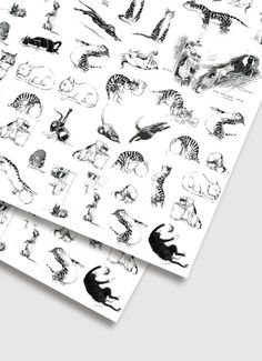 Artful Cats Wrapping Paper