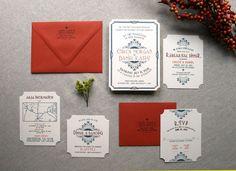 Decadent Art Deco Wedding Invitations