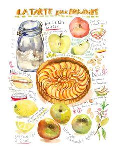 31 meilleures images du tableau gateau dessin art - Dessin tarte aux pommes ...