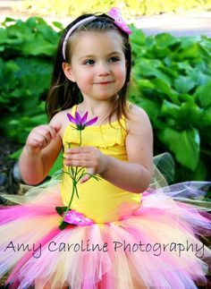 Pink tutu only with yellow and white Birthday dress door DanburyLane,