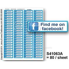 S41063A -p- FIND on Facebook BM -80 STICKERS