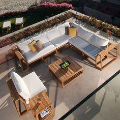 Maya 8 pc Deep Seating Set by Westminster Teak