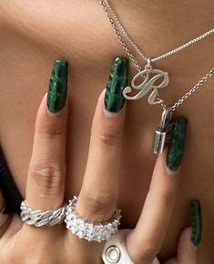Aycrlic Nails, Swag Nails, Hair And Nails, Nagellack Design, Nail Jewelry, Jewellery, Nail Ring, Fire Nails, Minimalist Nails