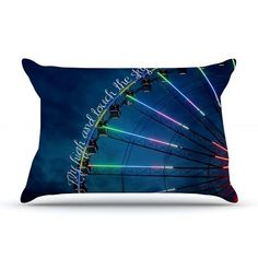 East Urban Home Beth Engel 'Fly High And Touch The Sky' Pillow Case