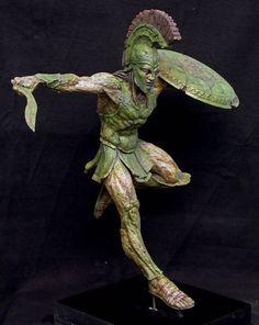 Spartan Mummy by *goblin-bones on deviantART Greek And Roman Mythology, Greek Gods, Fantasy Kunst, Fantasy Art, Anatomy Sculpture, Greek Warrior, Spartan Warrior, Modelos 3d, Greek Art