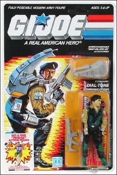 "Dial-Tone, a communications specialist from Hasbro's 1986 lineup of ""G.I.Joe"" action figures"