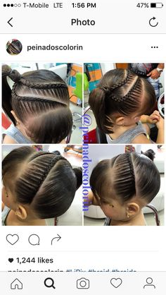 Braids lace French tight headband one sided pony tail Lil Girl Hairstyles, Hairstyles For School, Messy Hairstyles, Pretty Hairstyles, Updo Hairstyle, Prom Hairstyles, Little Girl Braids, Braids For Kids, Girls Braids
