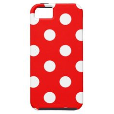 red and white polka dots iPhone 5 cases