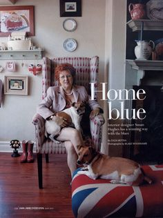 Susan Hughes Food & Home Entertaining - May Pg 110 This Is Us, Blues, Interiors, Urban, Entertaining, Interior Design, Country, Animals, Ideas