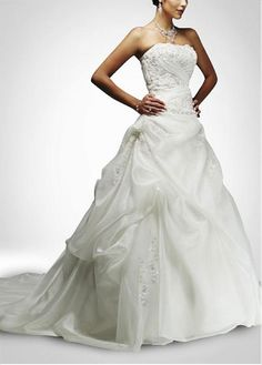 LACE BRIDESMAID PARTY BALL EVENING GOWN IVORY WHITE FORMAL PROM ORGANZA SATIN A-LINE WEDDING DRESS