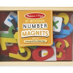 Enough numerals to count from zero through twenty AND five math signs in a convenient wooden case. 37 colorful magnetic pieces can help children learn their numbers and solve basic math problems. Alphabet Magnets, Magnetic Letters, Wooden Alphabet, Wooden Numbers, Letters And Numbers, Interactive Learning, Learning Toys, Basic Math Problems, Owl Classroom