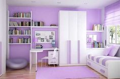 Purple Interior Design For Kids Bedroom Bedrooms Small