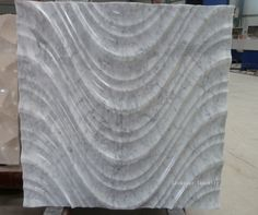 Natural white carrara 3d stone wall interior will create a distinctive look for your masonry wall.