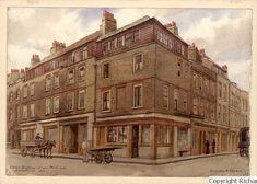 Corner of Hanbury Street and Brick Lane  1914 East End London, Old London, London Art, Bethnal Green, Victorian London, London History, French History, Brick Lane, Greater London