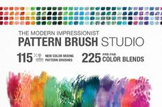 Modern Impressionist Photoshop Color Mixing Brush Studio! Game changing photoshop brushes that magically mix pre-blended colors as you paint! It's a @photoshop game changer! Perfect for illustrations, graphic design, printables and designs for sale! digital art, digital illustration, photoshop painting, photoshop brushes, digital painting