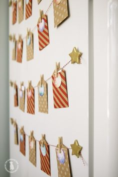 FREE printable...refrigerator advent calendar...