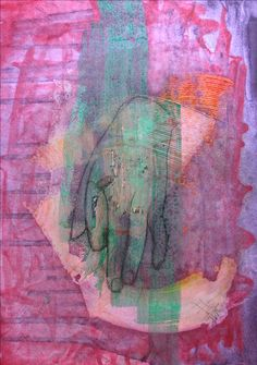 hand/ oil,paper,pedrage
