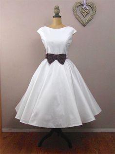 Lola-Rose Tea length wedding dress by RyleyandFlynnVintage on Etsy