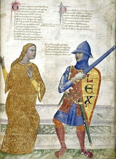 Prudence and Justice. Convenevole da Prato. Title Address in verse to Robert of Anjou, King of Naples, from the town of Prato in Tuscany (the 'Regia Carmina'). Origin Italy, Central (Tuscany) Date c. 1335-c. 1340. Medieval Imago & Dies Vitae Idade Media e Cotidiano