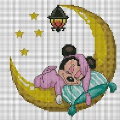 Fantastic Absolutely Free Needlepoint patterns kids Popular Minnie Mouse x-stitch Disney Cross Stitch Patterns, Cross Stitch Charts, Cross Stitch Designs, Cross Stitch Fairy, Cross Stitch For Kids, Disney Stitch, Cross Stitching, Cross Stitch Embroidery, Stitch Cartoon