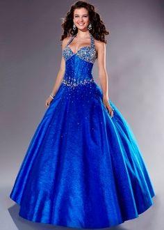 Vestidos de quince color azul