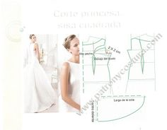 Patrón y costura : corte princesa, sisa cuadrada.Tema 137