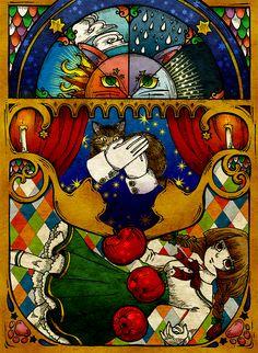 2015年 12月 高円寺のたまごの工房というギャラリーで開催された「猫科展」に出品しました。   :林檎の重さに例えて誤魔化すの。 最後まで媚びなかったけど、優しかったあなたのこと  大好きよ。