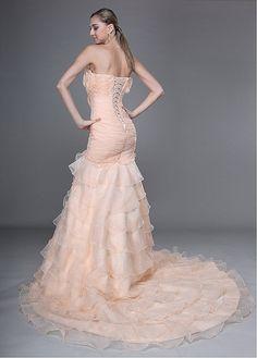 Robe de Mariée Glamour sirène bustier encolure  en couches en organza et satin   http://fr.edressbridal.com/habits-de-mari%C3%A9e/robe-de-mari%C3%A9e-glamour-sir%C3%A8ne-bustier-encolure-en-couches-en-organza-et-satin-19646.html