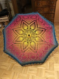 This is definitely an umbrella extraordinaire ☂️ . Lace Parasol, Shops, Rose Water, Pineapple, Mandala, Blanket, Knitting, Rugs, Crochet