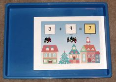 Montessori Christmas activities: Christmas addition game || Gift of Curiosity