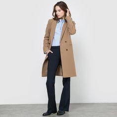 Manteau droit drap de laine Atelier R prix promo Manteau Femme La Redoute 149.99 €