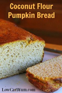 This low carb coconut flour pumpkin bread recipe makes two loaves and uses a full can of pumpkin so you won't have to let leftovers go to waste.