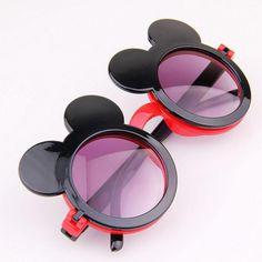 6219ae1de8 Lunettes De Soleil Pour Enfants Sunblock Sunglasses 2015 Mode Dessin Animé  Minnie Coloré Garçons Filles Plein Air