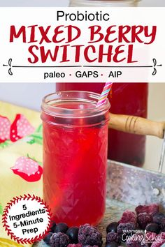 Probiotic Mixed Berry Switchel - Our ancestors knew the importance of hydration -- long before science discovered electrolytes! So, they created traditional drinks, like switchel, to refresh and replenish after a long, hot day of sweating in the sun. This easy and tasty Probiotic Mixed Berry Switchel has just 5 ingredients and a 5-minute prep! #fermenting #drinks Acv Drinks, Healthy Drinks, Healthy Tips, Keto Electrolyte Drink, Paleo For Beginners, Gaps Diet, Ginger And Honey, Mixed Berries, Mushroom Recipes