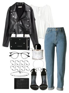 """""""Untitled #3640"""" by theeuropeancloset ❤ liked on Polyvore featuring WithChic, Ray-Ban, Givenchy, Byredo, Chupi, ASOS, Shoe Cult, MICHAEL Michael Kors and Yves Saint Laurent"""