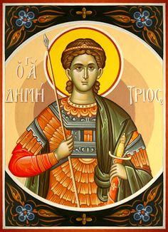 The Holy Week Services of St. Demetrios the Myrrhgusher Byzantine Icons, Holy Week, Thessaloniki, Orthodox Icons, I Icon, Holi, Christianity, Saints, Motivational