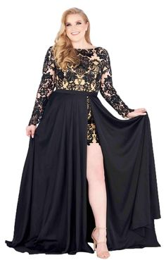 3bc3a0241245 Imposing midi dress convertible high slit gown designed by Mac Duggal  FabuloussWho would have though a