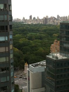 Central Park, spotted from the ELLE offices #manhattan #NYC